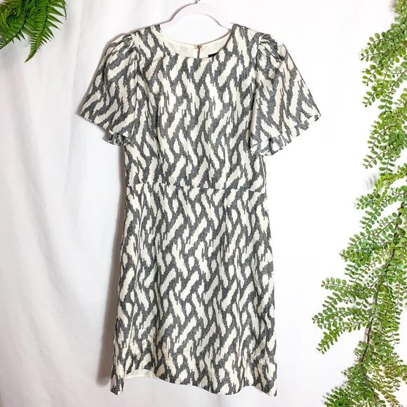 J. Crew Dresses & Skirts - J. Crew Flutter Sleeve Ikat Print Dress